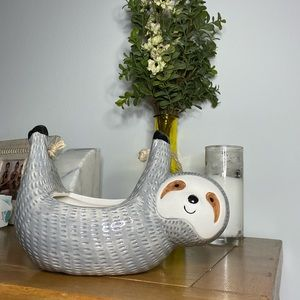 Urban Outfitters Home Sloth Hanging Planter